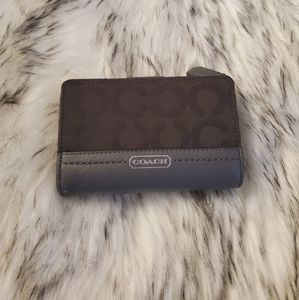 Coach Leather & Canvas Bifold Snap Wallet